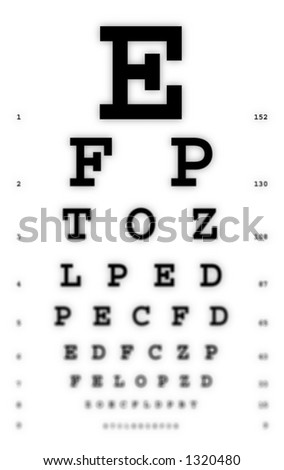 Medical - Fuzzy sight of eye chart