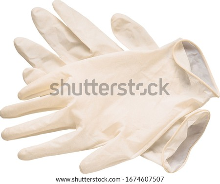 medical gloves isolated on white background ストックフォト ©