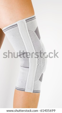 medical knee support - stock photo