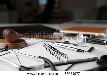 Medical law. Compensation, damages concept.