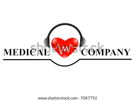 Medical Logo For Web Page Design Company Logo Stock