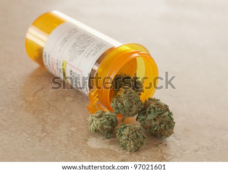 Medical Marijuana in prescription bottle