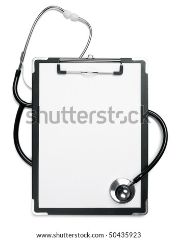 Medical note and doctor's stethoscope.