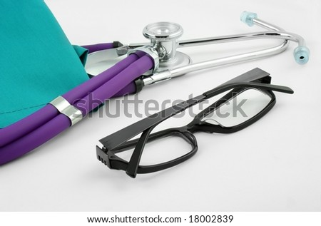 Medical objects as medicine symbol