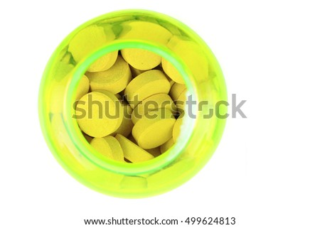 medical pills isolated on the white background #499624813