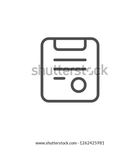 Medical prescription line icon isolated on white