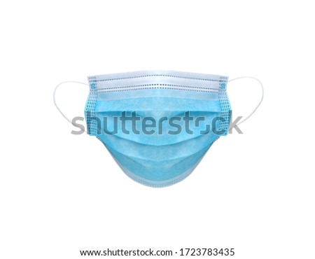 Medical protective mask isolated on a white background