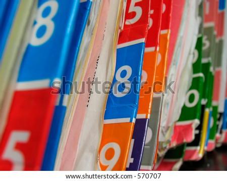 Medical records shelf.
