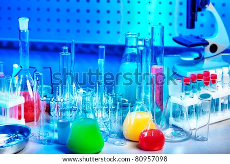 Medical science equipment. Research, laboratory, science, testing