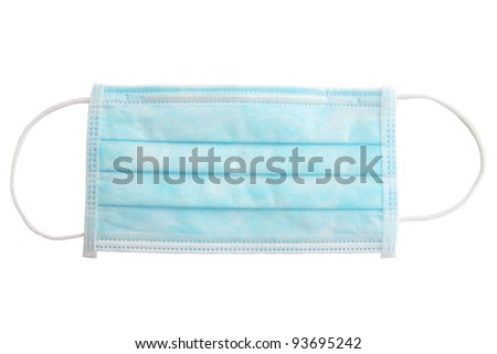 Medical shielding bandage against the white background