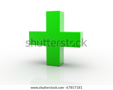 Medical sign isolated on white background - stock photo