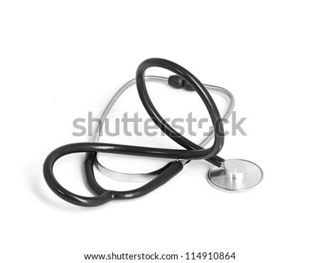 medical stetoskop isolated on a white background