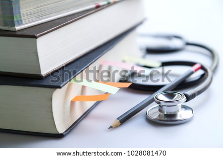 medical student textbooks with...