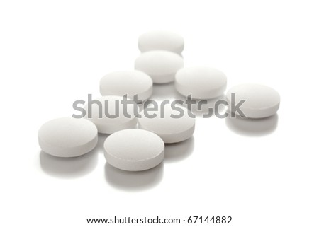 Medical Tablets over white
