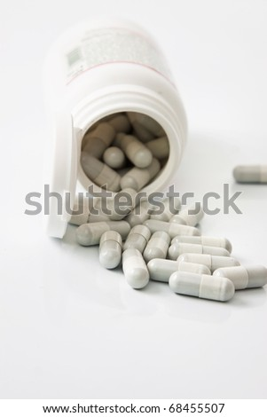 medical tablets isolated in white