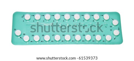 Medical tablets on white background