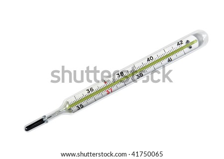 Medical thermometer isolated on white background. Work path included