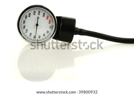 Medical tool for blood pressure measuring with reflection