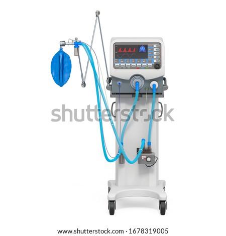 Medical ventilator, 3D rendering isolated on white background Stockfoto ©