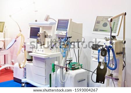 Medical ventilators on store exhibition