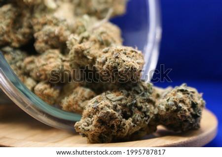medical weed marihuana closeup jar Stockfoto ©