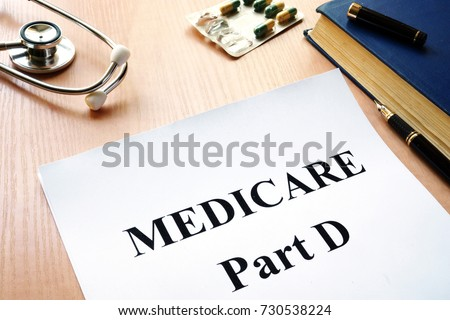Medicare Part D on a table. Photo stock ©