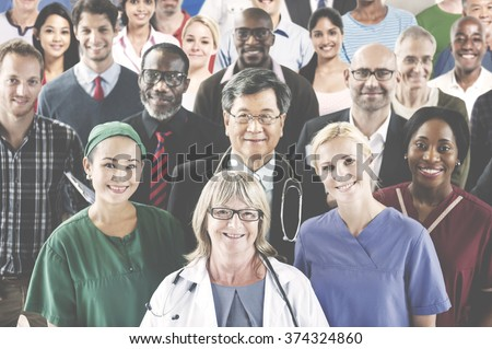 Medication Profession Occupation Team Smiling Concept