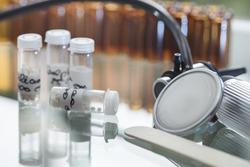 medicine alternative homeopathy globules and bottles