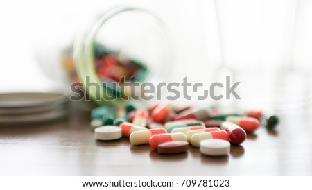 Medicine background for medical concept