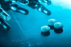 medicine background, pills and medicament