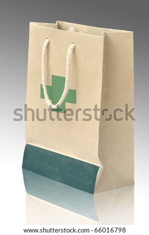 Medicine bag made from recycle paper with reflect