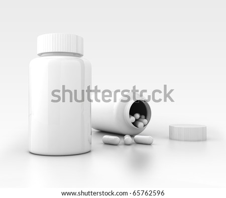 medicine bottle container template