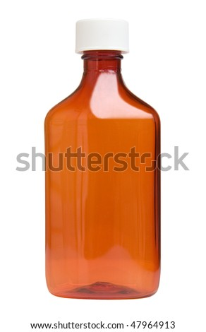 Medicine bottle with clipping path.