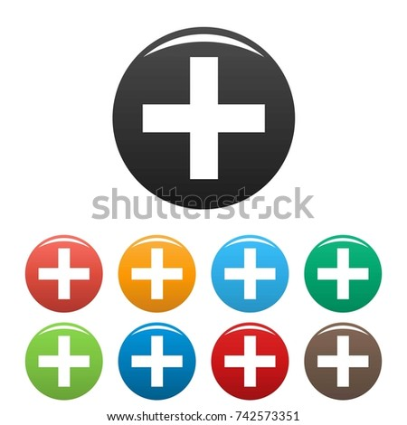 Medicine icons set. Simple illustration of medicine  icons set for any web design