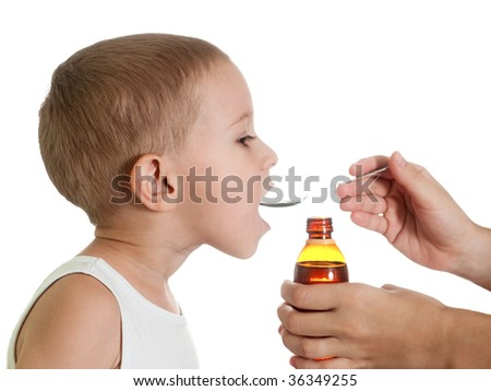 Medicine liquid syrup for flu and cold healthcare
