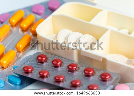 medicine packages and medicine box