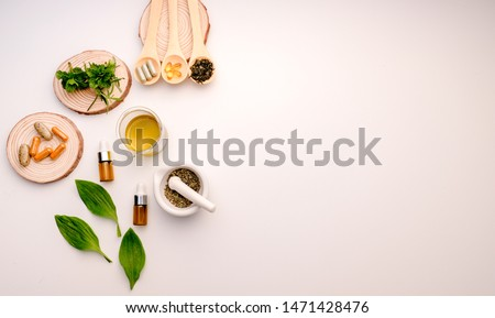 medicine with herbal the organic natural in the laboratory. oil capsule, natural organic.food nutrition healthy and wellness. #1471428476