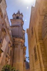 Medieval alley in Mdina Malta