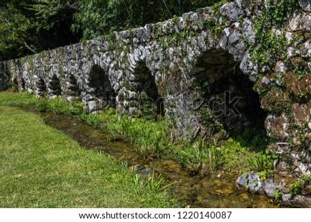 Medieval aqueduct in the Konavle valley in Croatia #1220140087