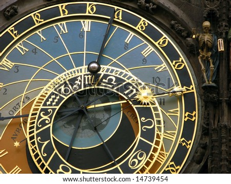 Medieval astronomical clock in Prague