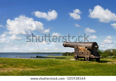 Medieval cannon in Sweden.