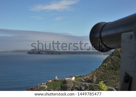 Medieval cannons defending the bay from enemy ships in St. John's #1449785477