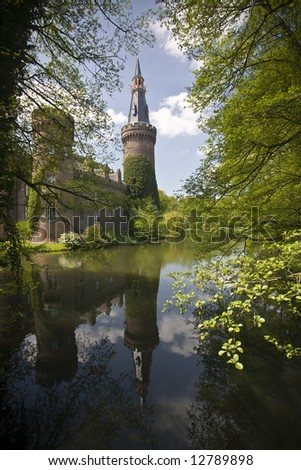 Medieval Castle in Bedburg-Hau, Nordrhein-Westfalen, Germany