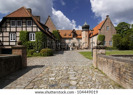 Medieval castle in the village of Bad Bederkesa, Germany
