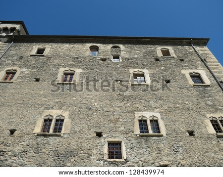 medieval castle of Avise near Aosta