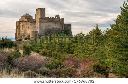 Medieval castle of Loarre,Aragon, Spain