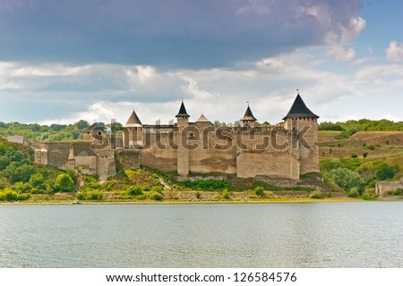 Medieval castle on the river