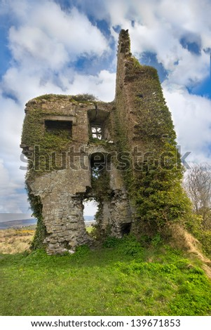 Medieval castle ruins in Carrigognunnel Ireland