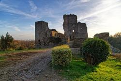 Medieval castle Saissac France