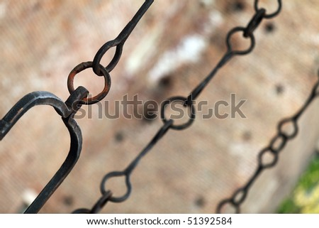 Medieval chains close-up